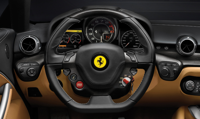 Ferrari Berlinetta interior