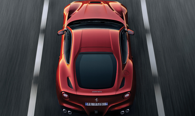 Ferrari Berlinetta aerial view