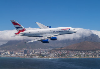 airbus a380 over table mountain